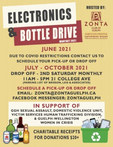 Zonta Bottle and Electronics Drive 2021 Flyer
